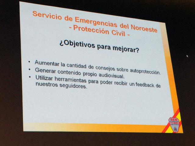 Diapositiva presentada por Diego Fernández Gea en las II Jornadas de Comunicación de Emergencias en Redes Sociales en la Región de Murcia