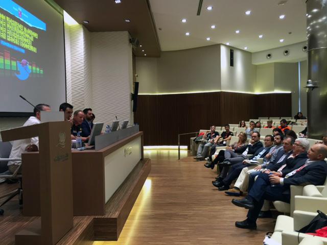 Vista general de la sala de Cajamar durante la celebración de las II Jornadas de Comunicación de Emergencias en Redes Sociales en la Región de Murcia