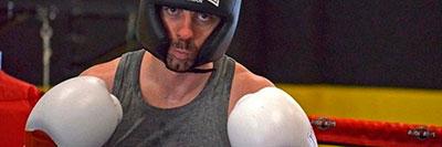 Javier Echaleku en su vuelta al boxeo