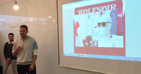 David Moreno, de Hawkers, en la clase del máster de Marketing Digital de Fundesem