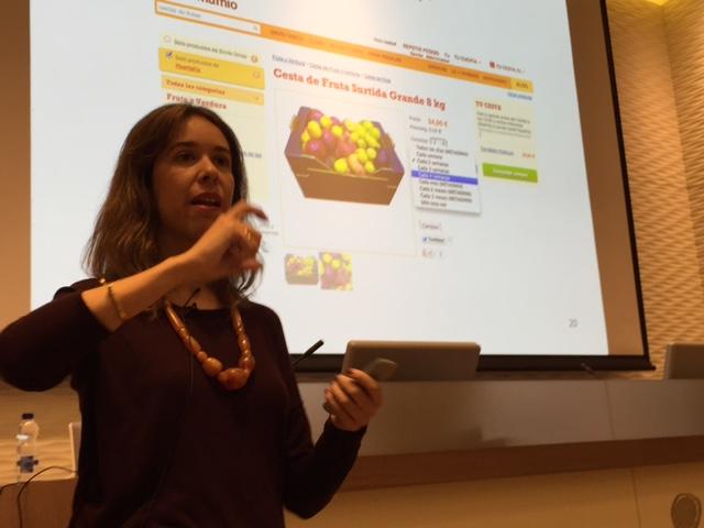 Isabel Ortiz, en la I jornada de marketing online en el sector agroalimentario