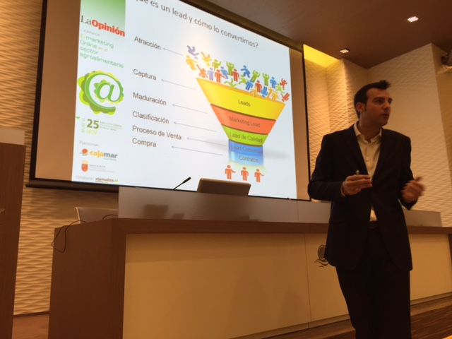 Josep María Aleu, en la I jornada de marketing online en el sector agroalimentario