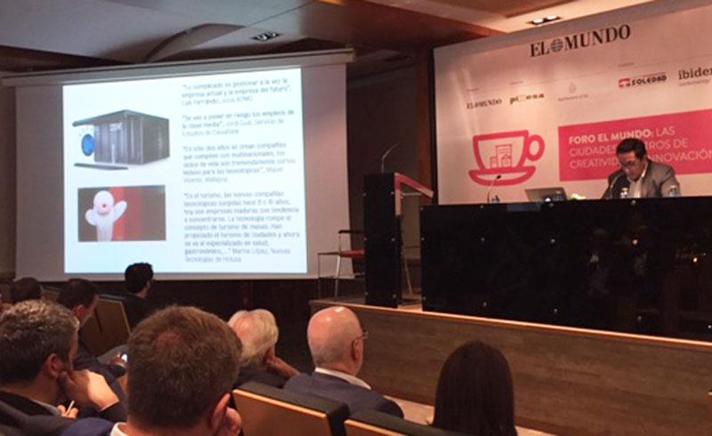 Rafael Navarro habla sobre innovación en el foro de digitalización organizado por el diario El Mundo en Elche